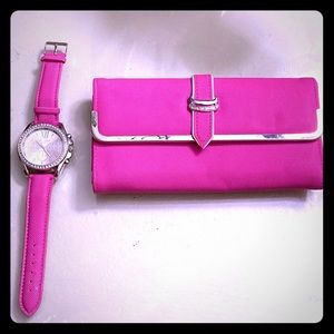 Ashley Princess Watch With Matching Wallet